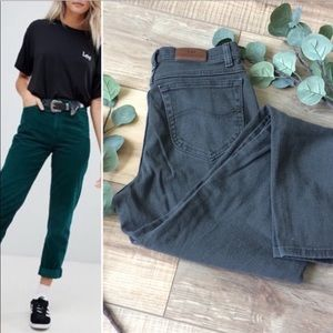 Vintage Lee Green High Waisted Mom Jean